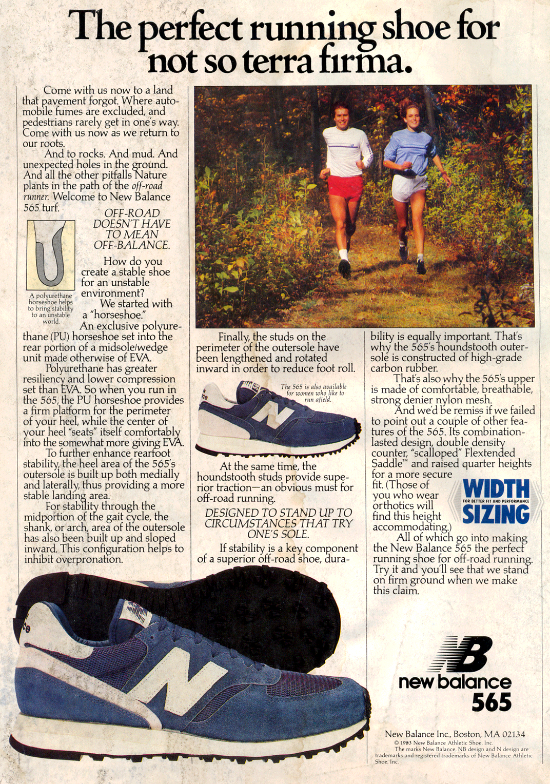 Retro Advertisement from March 1984 – New Balance 565 ...