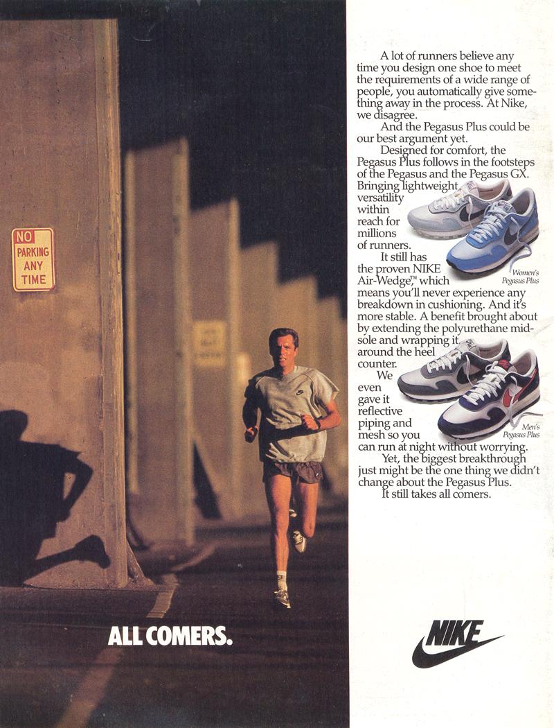 Retro Ad From November 1986 The Nike Pegasus Plus The Runner S Shop